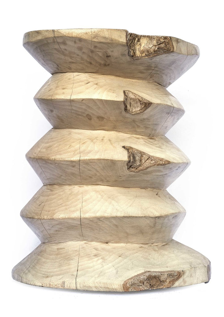 Wooden jagged stool