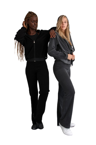Towelling trackie bottoms