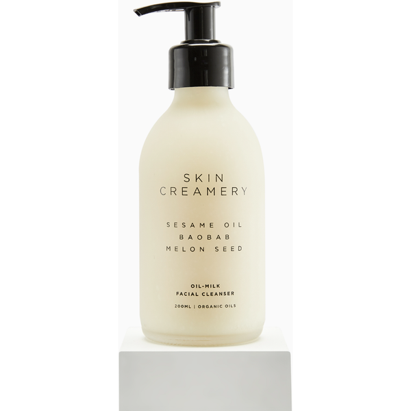 Oil milk facial cleanser
