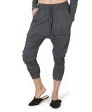 Slick slouch pants - charcoal