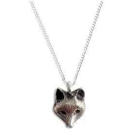 Fox pendant necklace silver