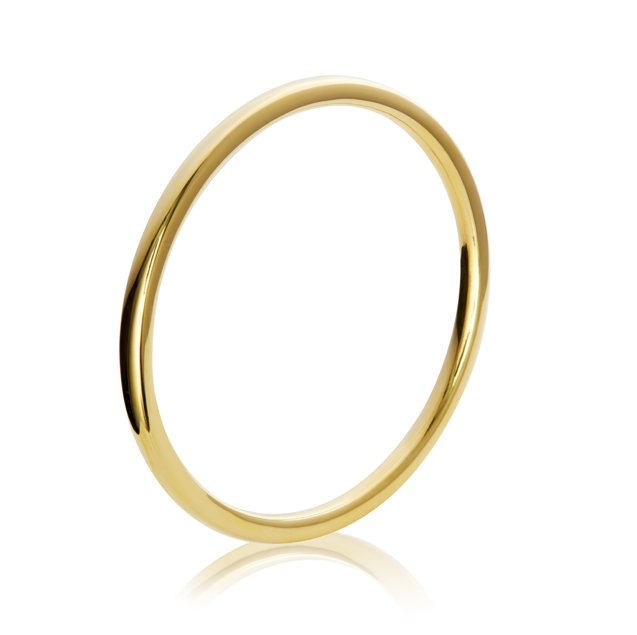 Classic round thick bangle