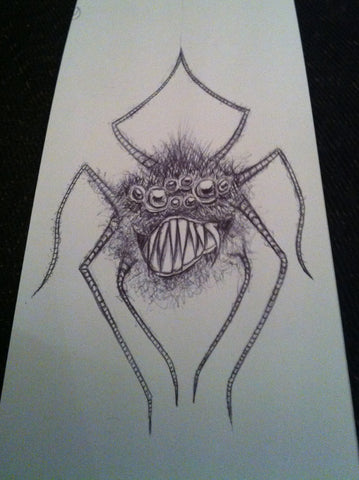 Image of 'Hungry' spider drawing