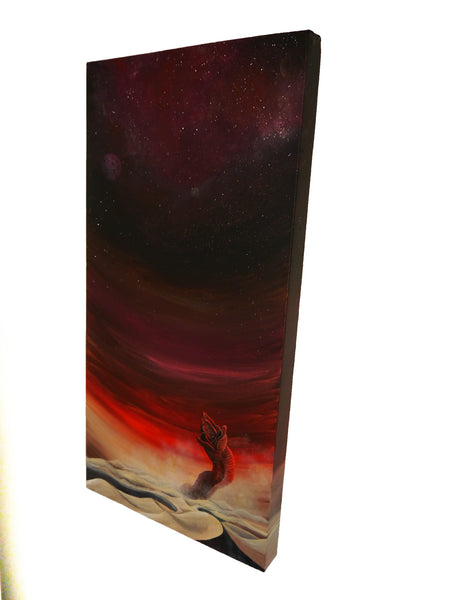 Side view of 'The Maker' Dune canvas painting
