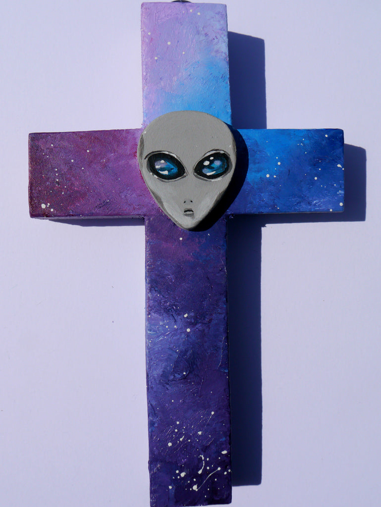 Image of alien wall cross