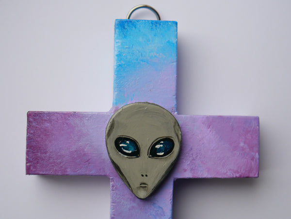 Close up view of alien atlantis cross