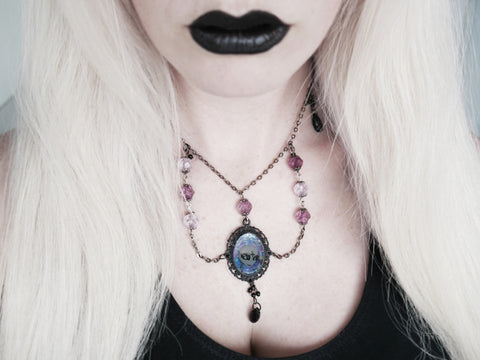 Image of greys necklace modelled