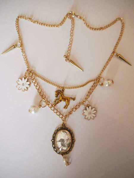 Full image of 'Queen Mab' fairy charm necklace
