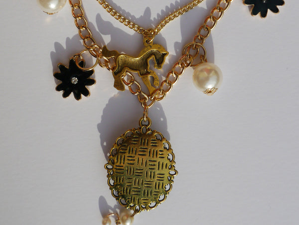 Rear view of 'Queen Mab' charm necklace