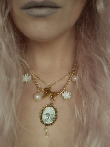 Image of 'Queen Mab' necklace modelled