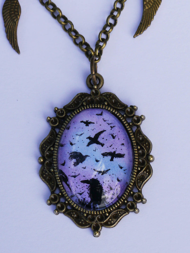 Close up detailed image of antique conspiracy pendant