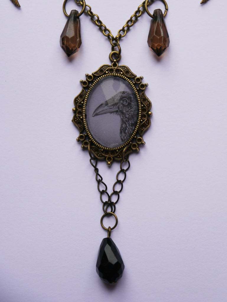 Close up image of 'Baby Crow' pendant