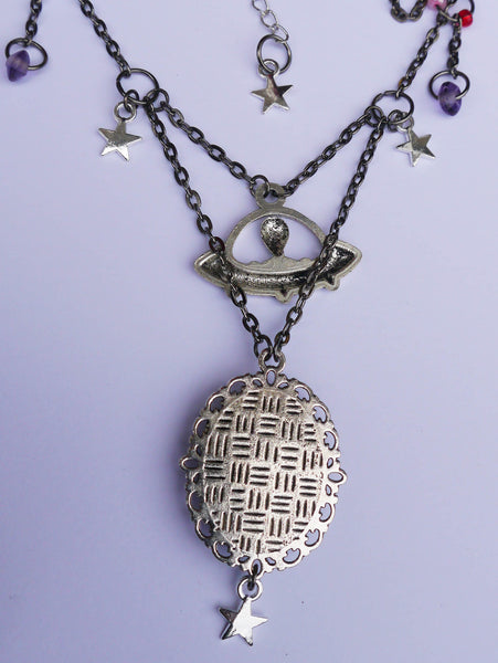 Rear image of ufo space pendant necklace