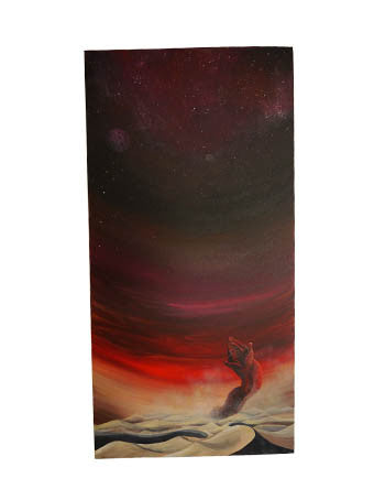 Full image of Dune acrylic canvas painting
