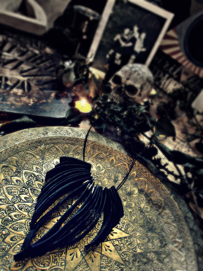 'Fallen Angel' post apocalyptic rubber choker