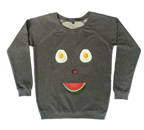 Happy Fruity Demon Sweatshirt - Made to Order