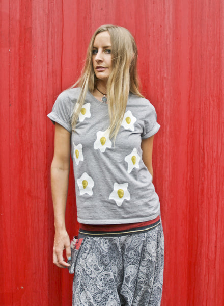 Splat Egg Print T-Shirt