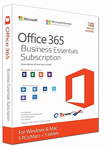 Microsoft Office 365 Business Essentials 1 Year Subscription
