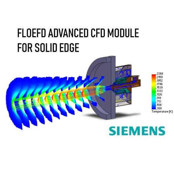 FLOEFD Adv CFD Module For Solid Edge with 1 Year Maintenance Plan