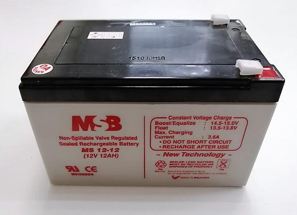 MSB REPLACEMENT S.L.A BATTERY MS 12V 12.AH