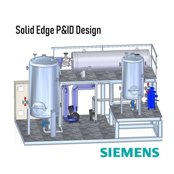 Solid Edge P&ID Design Standalone Perpetual License with 1 Year Maintenance  Plan + 1 Class of Solid Edge P&ID Design Training