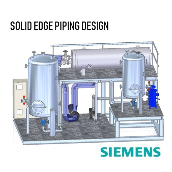 Solid Edge Piping Design Standalone Perpetual License with 1 Year Maintenance Plan + 1 Class of Solid Edge Piping Design Training