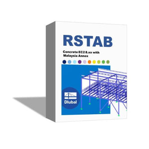 [Package] RSTAB Concrete EC2 8.xx with Malaysia Annex - Single User
