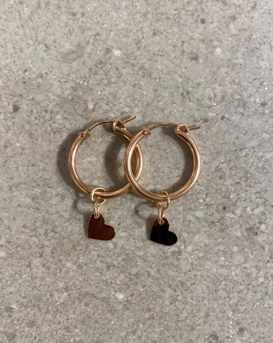 LOVE  hoops earring