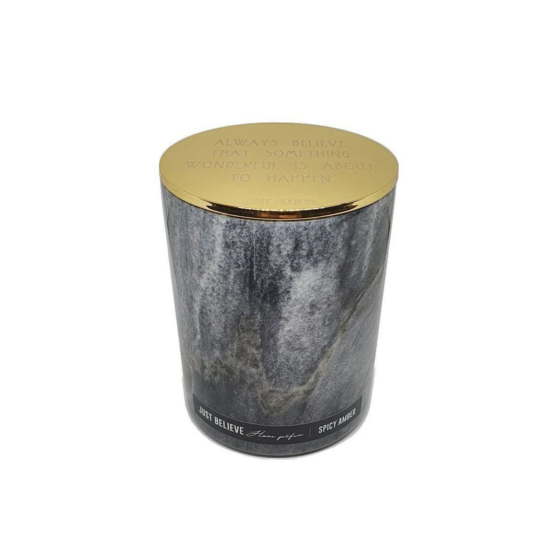 Black Marble Candle - Spicy amber - Gold cover