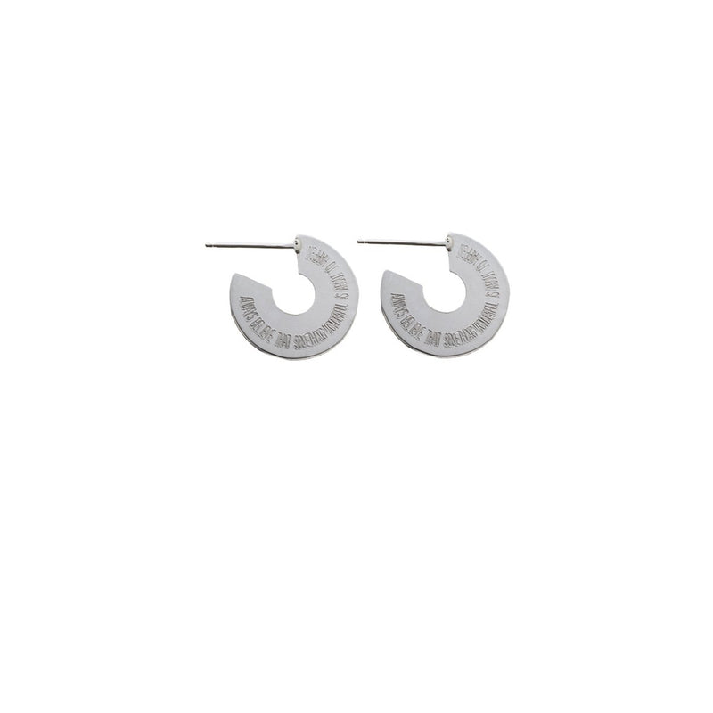 Always believe earring - Small size- Silver