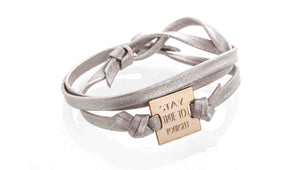 Square leather bracelet - Just Believe Jewelry
