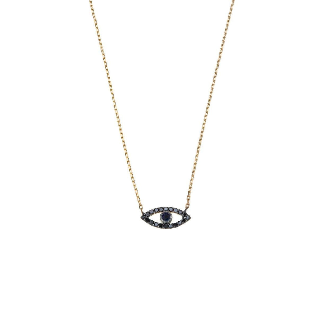 Eye 14K gold Necklace -14K gold with Diamond