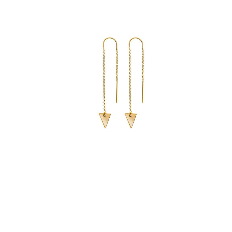 Long Triangle Earrings