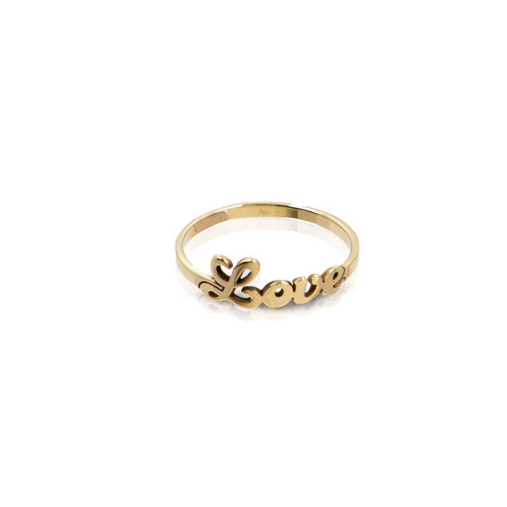 Name ring - 14K gold