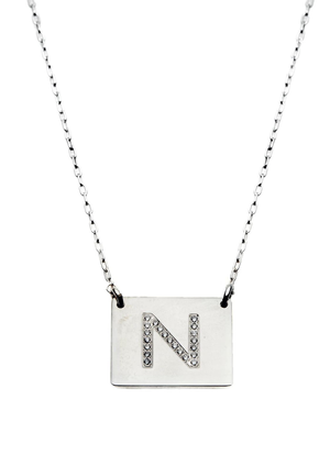 Square Letter Necklace - Just Believe Jewelry
