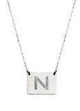 Square Letter Necklace