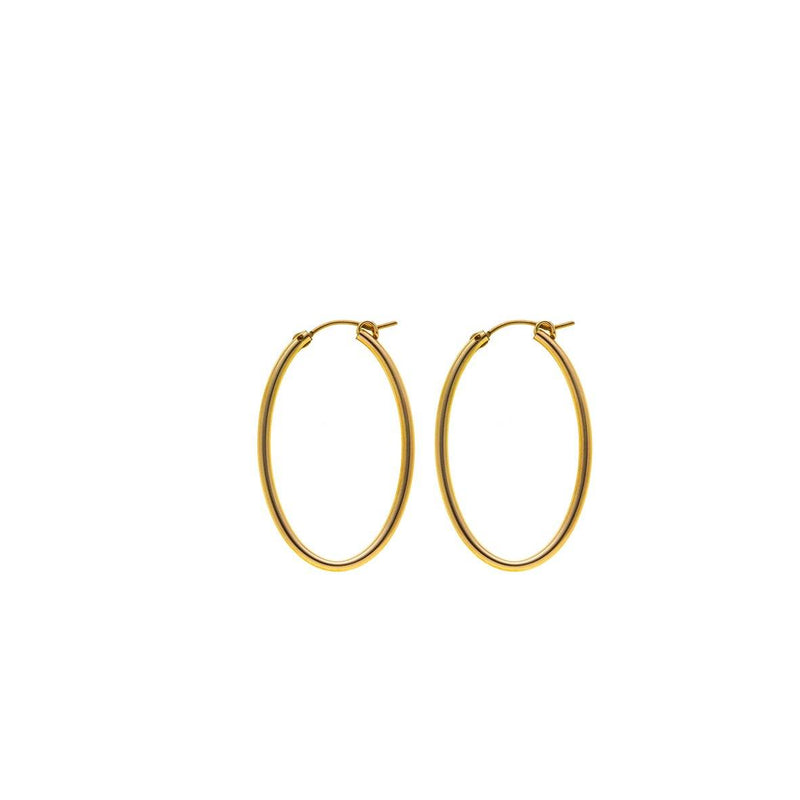 Oval earring- Goldfilled
