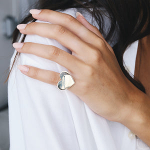Heart ring -Siiver \Gold