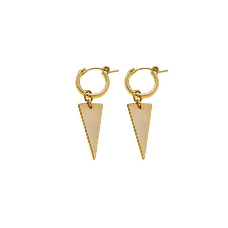 Triangle earring- Goldfilled
