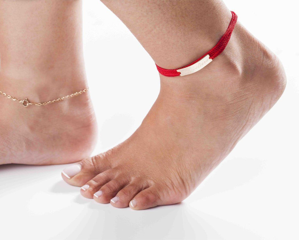 Cord Wrap Anklet - Just Believe Jewelry