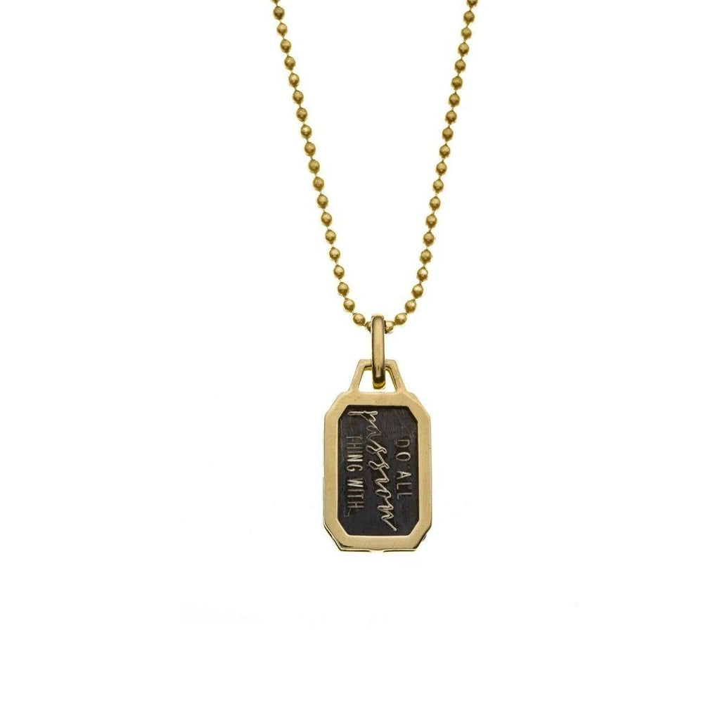 Envelope Silvia Necklace - Gold