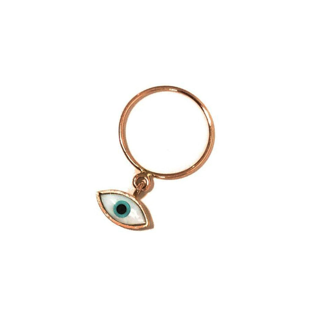 Eye ring - 14K gold