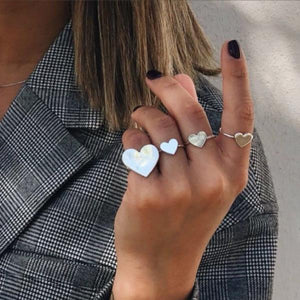 Mini Heart ring- Silver - Just Believe Jewelry