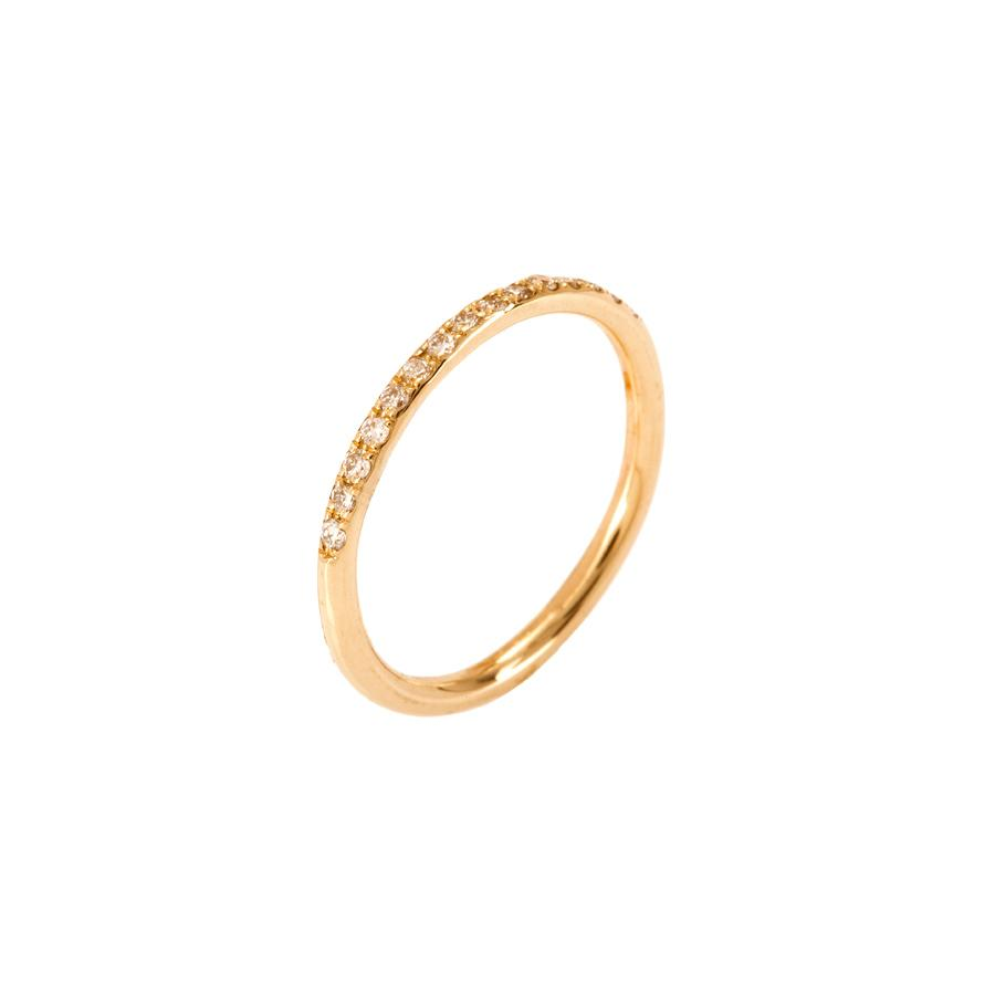 14K Gold ring inlaid ring with CZ