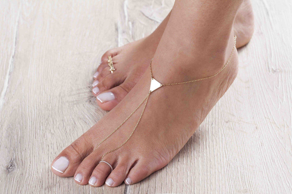 Triangle Toe Ankle - Just Believe Jewelry