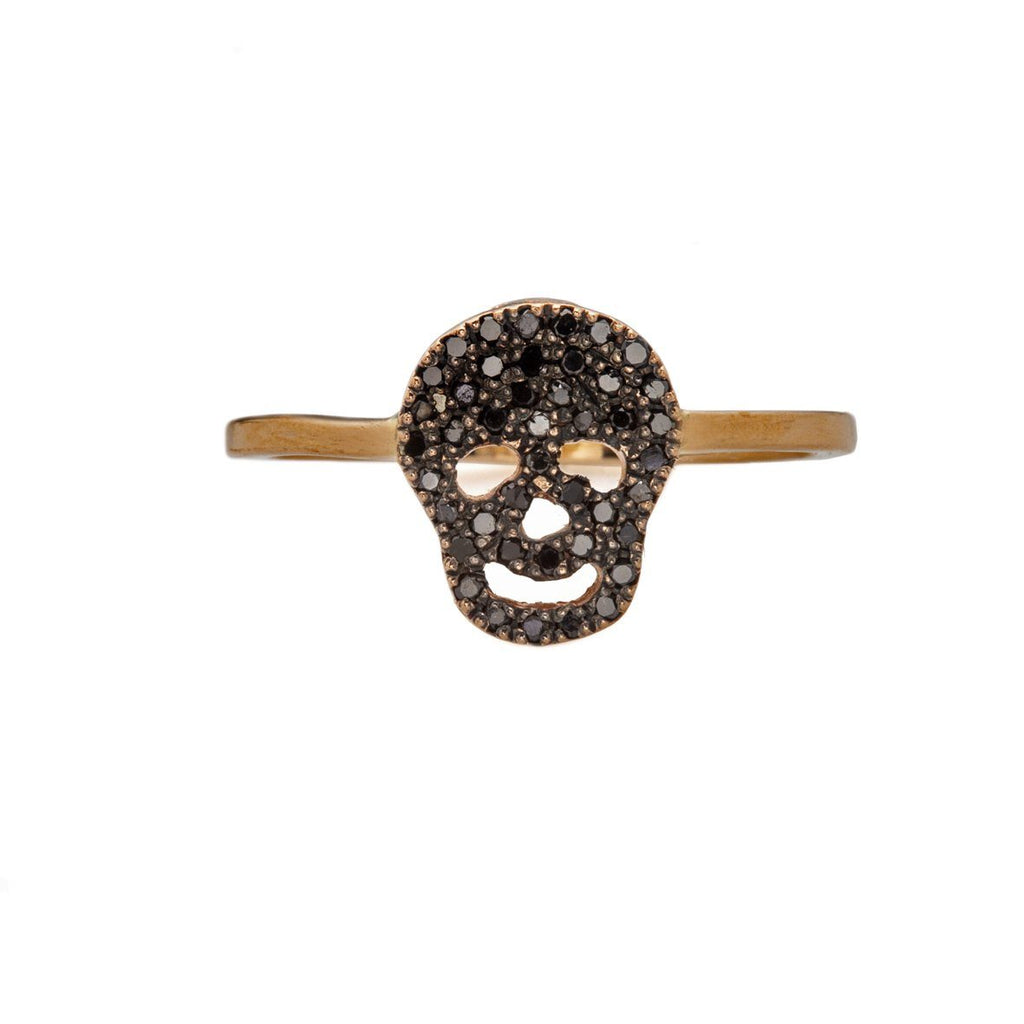 Skull Ring -14K gold with Diamond