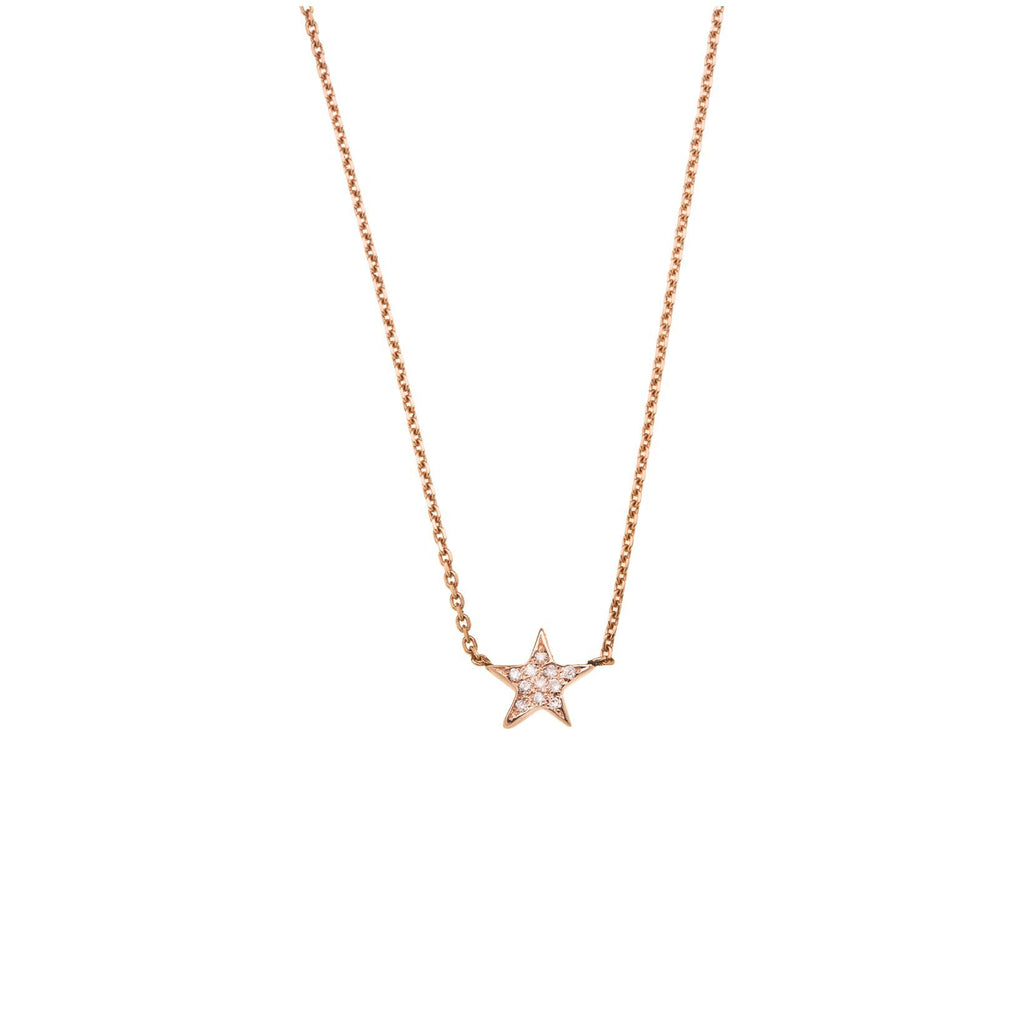 Star Necklace- 14K Gold with Diamond
