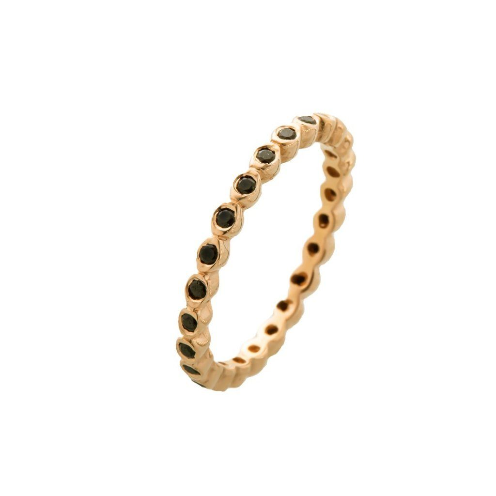 14K Gold ring inlaid ring with Real stone