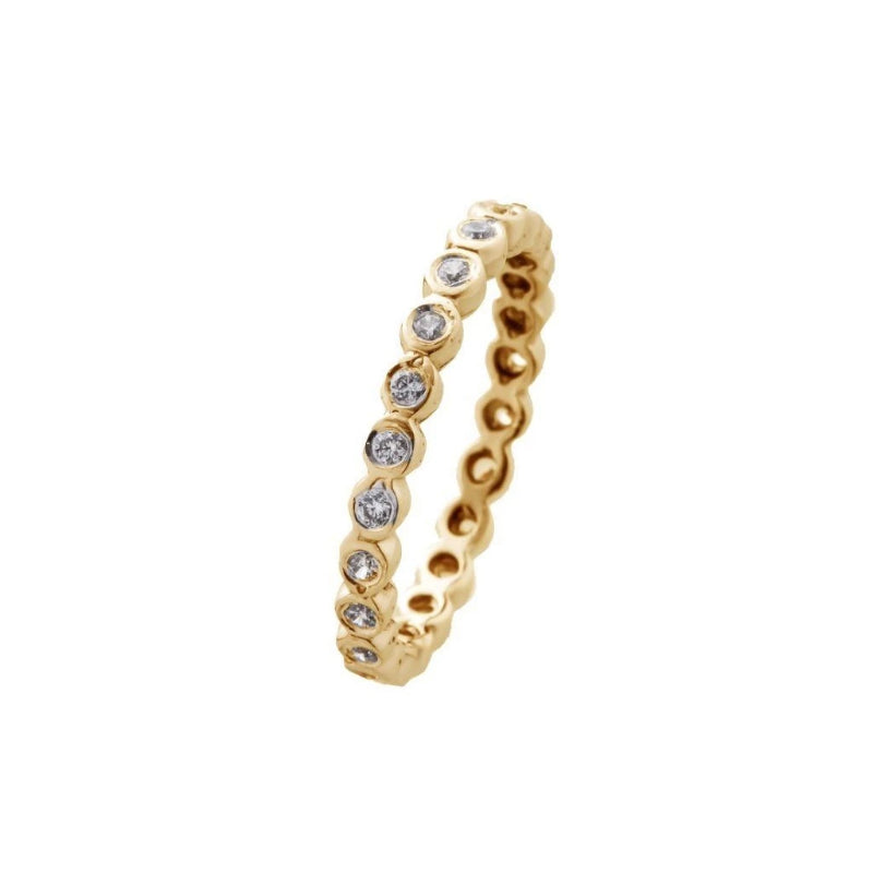 14K Gold ring inlaid ring with stone