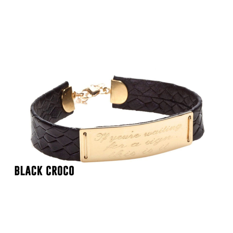 XL CLASSIC LEATHER BRACELET